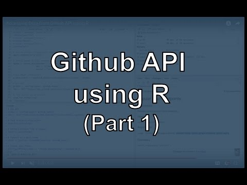 Github API UsingR
