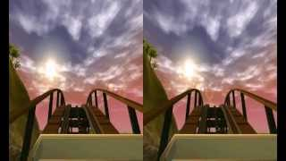 3D Active/Passive - Mountain Coaster (Night) - POV 3D Experience side by side