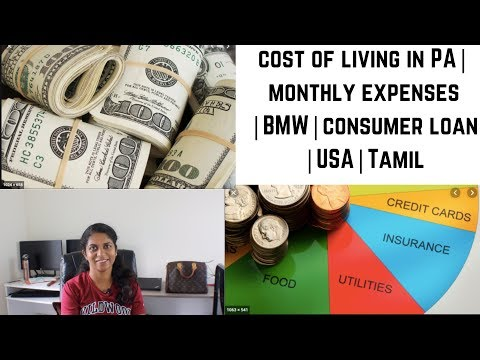 cost-of-living-in-pa|monthly-expenses|bmw|consumer-loan|usa|tamil