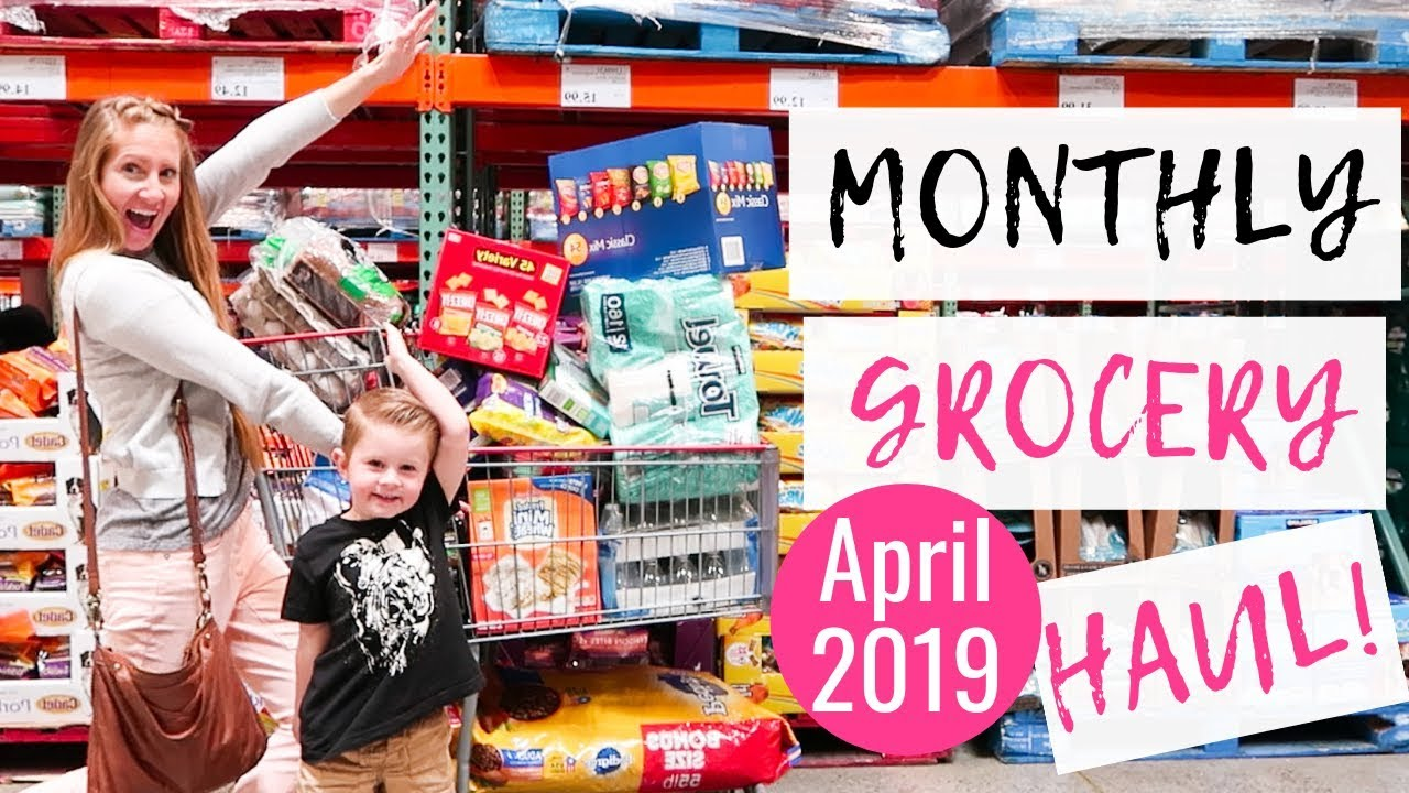 d42ab70adee April 2019 Monthly Grocery Haul on a Budget | Costco & Target Haul ...