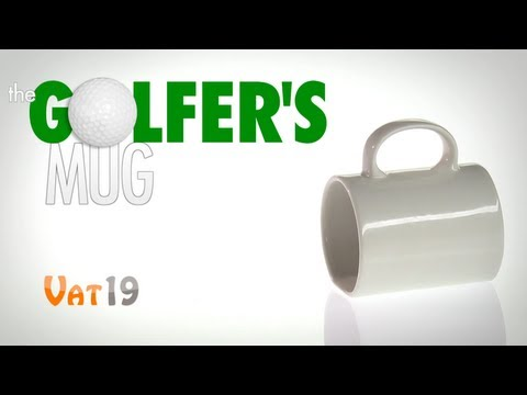 Golfer's Ceramic Putting and Drinking Mug