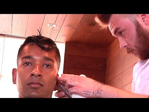 Expert Pompadour Fade Haircut And Style Complete With Shampoo, Scalp Massage and Facial