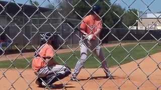 Jack Armstrong singles off David Martinez - Astros ST 2014