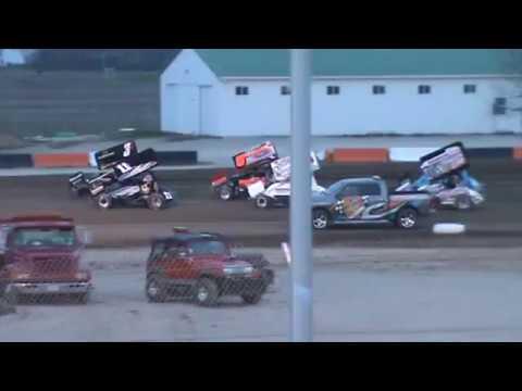 attica raceway park sprint car crash