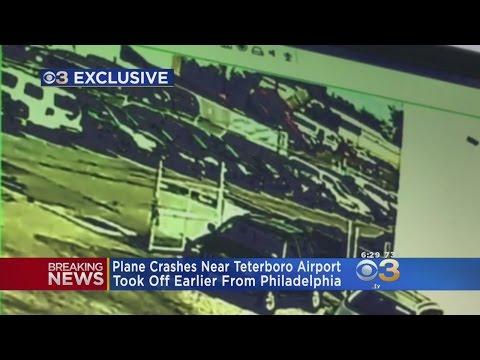 Exclusive Video Shows Plane Crashing Near NJ Airport