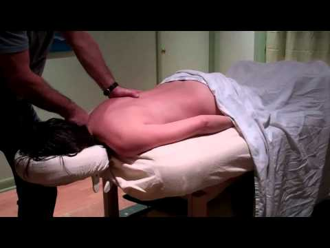 massage Contiuning Education Rolfing a client with a Harrington Rod