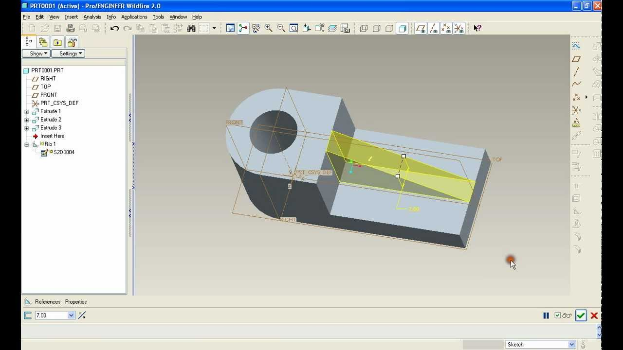 Ptc pro engineer wildfire surface modeling tutorial   curvature.