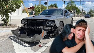 we got into a car accident