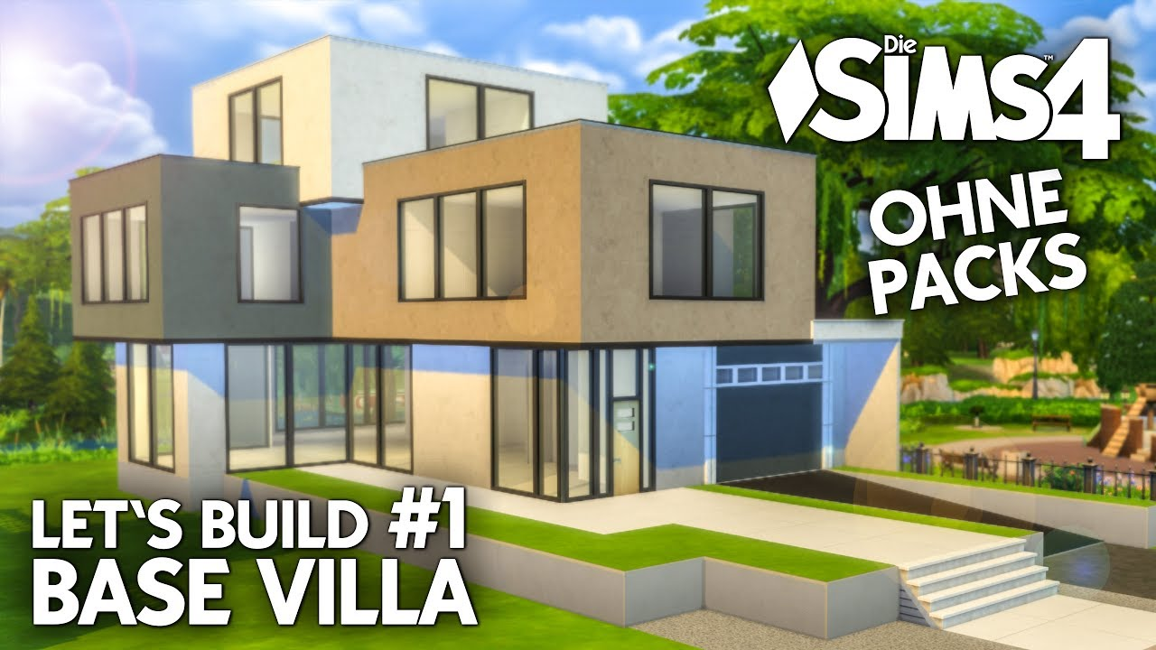 die sims 4 haus bauen ohne packs base villa 1 grundriss deutsch youtube. Black Bedroom Furniture Sets. Home Design Ideas