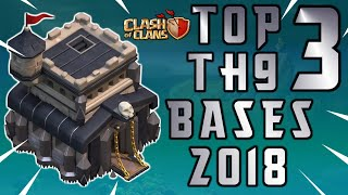 NEW TOP 3 TOWN HALL 9 FARMING/TROPHY BASES 2018! TH9 HYBRID DARK BASE UPDATE!! - CLASH OF CLANS(COC)