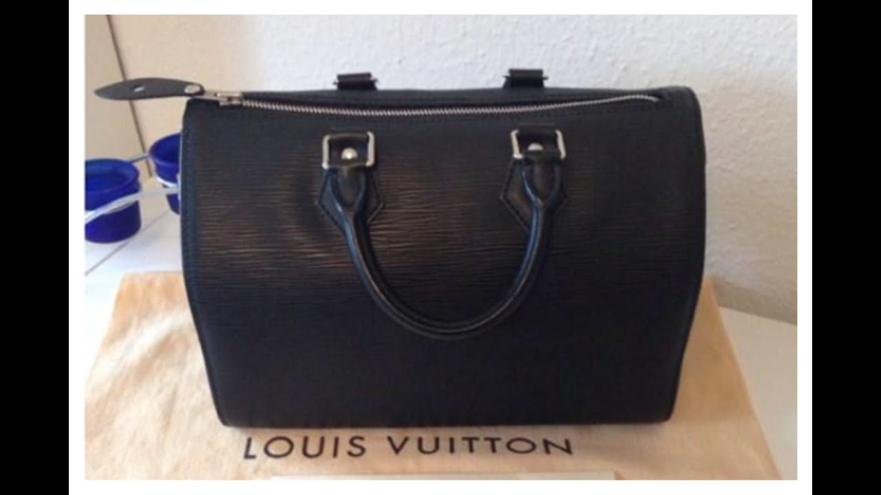 70e34b3ba4e6 Louis Vuitton Speedy 25 in Epi - YouTube