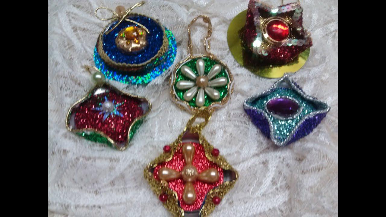 Diy adornos navide os hechos con latas christmas ornaments out of aluminium cans youtube - Adornos navidenos diy ...