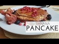 COOKING WITH THE ENGELS I HOW TO  MAKE HEALTHY BANANA PANCAKES