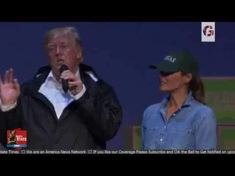 President Donald Trump gives IMPORTANT Speech at Hurricane Harvey Relief Center
