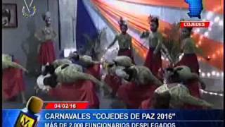 Inician Carnavales Cojedes de Paz 2016 organizado por el gobierno de la región