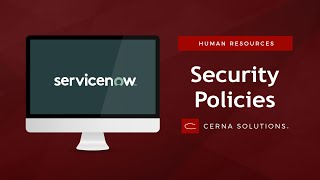 How to Safeguard Sensitive HR Data with COE Security Policies (ServiceNow Orlando)