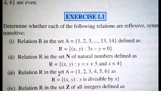 12 th (NCERT) Mathematics-RELATION AND FUNCTIONS EXERCISE- 1.1 Part 1 (Solution)|Pathshala (Hindi)