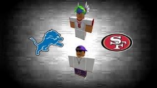 ROBLOX NFL Lions VS 49ers Highlights