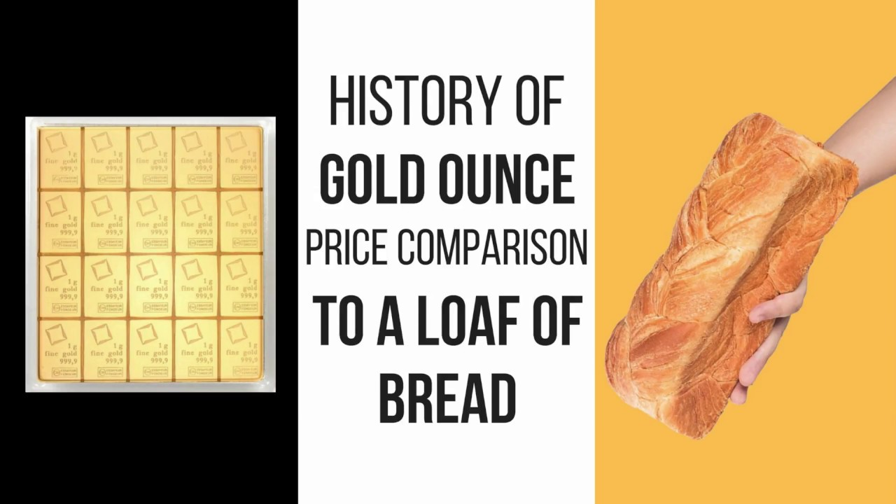History of Gold Ounce Price Comparison To A Loaf Of Bread