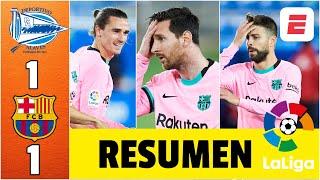 Alavés 1-1 Barcelona. Error de Piqué y Neto Murara, gol de Antoine Griezmann, Messi cerca | La Liga