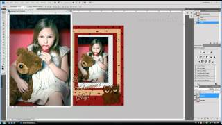 Photoshop Tutorial How to Insert Picture into PSD Frame Template