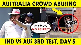 Australian Crowd Racial Abuse Video | <b>India vs Australia</b> 3rd Test ...