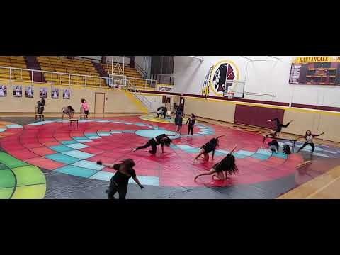 Harlandale High School Color Guard practice
