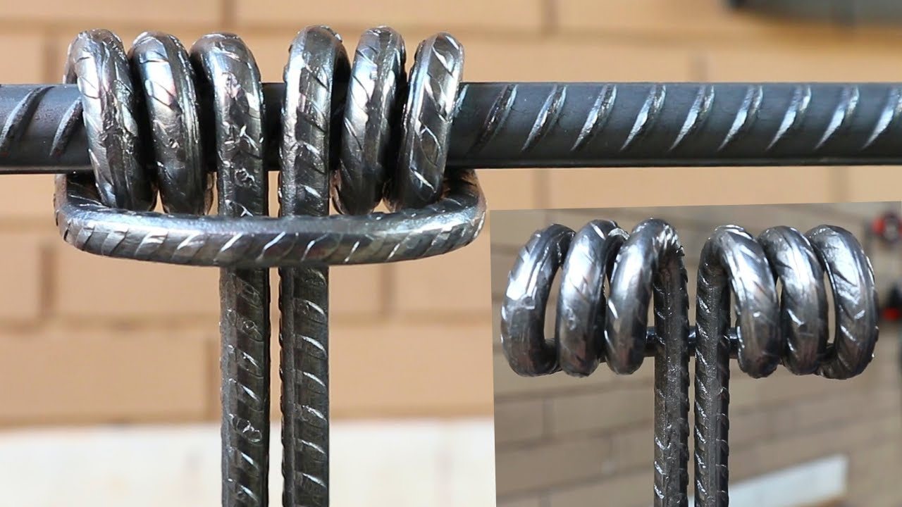 How to make a steel knotby Bending Rebar - Prusik Knot - Without HEATING - Metalworking Project