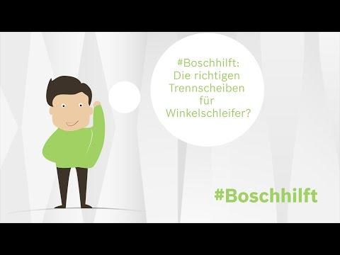 Die richtigen Trennscheiben für Winkelschleifer? Bosch hilft.