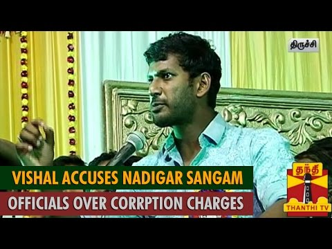 Actor Vishal Accuses Nadigar Sangam Officials over Corruption Charges - Thanthi TV