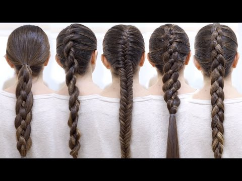 How To Braid Your Hair 6 Cute Braid For Beginners Youtube