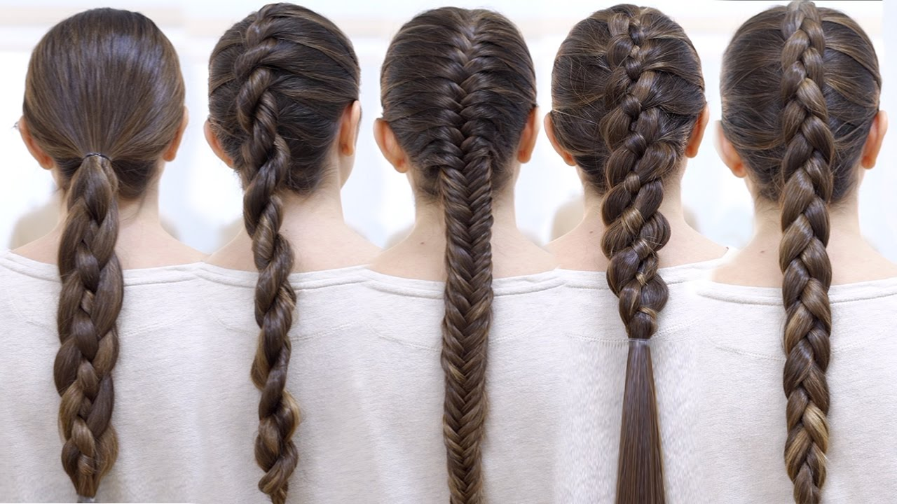 How to braid your hair 6 Cute braid for beginners - YouTube