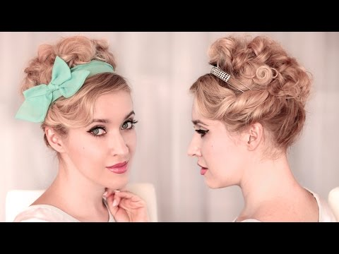 Праздничная/вечерняя/свадебная причёска своими руками на средние/длинные волосы самой себе