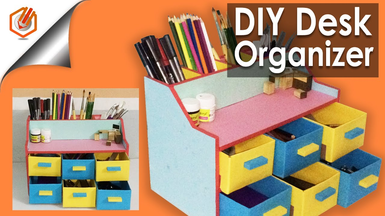 Easy Diy Desk Organizer Drawer Organizer Pencil Holder