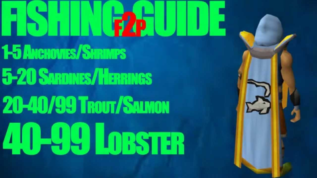 OSRS 1 99 F2p Fishing Guide Money Making FAST EASY