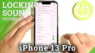 How to Turn On/Off Screen Locking Sounds on iPhone 13 Pro – Adjust Sound Settings