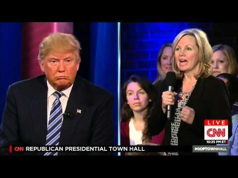 DONALD TRUMP CNN  TOWN HALL 2 18 2016