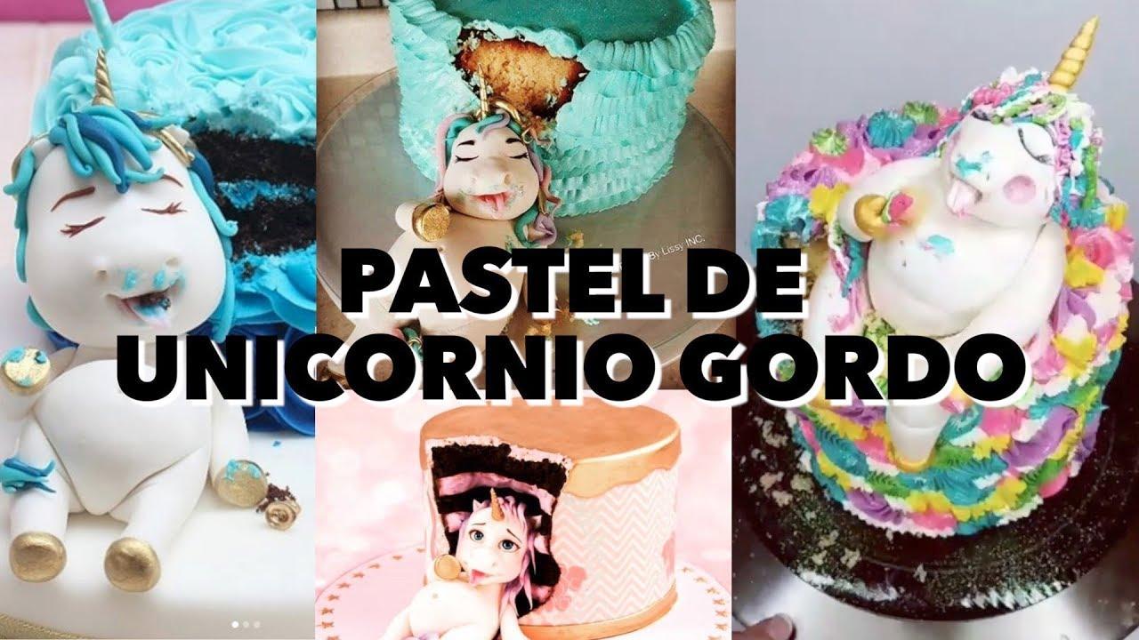 Pastel unicornio gordo expectativa realidad youtube for Decoracion para pared de unicornio