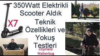 ELEKTRİKLİ SCOOTER ALDIK TEST ETTİK 350 WATT WALKERBUG X7 / ELECTRIC SCOOTER TEST