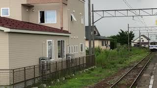 弘南鉄道弘南線7000形7105Fワンマン普通黒石行き第21列車津軽尾上到着