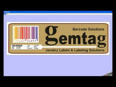 PRINT JEWELLERY LABELS WITH BARCODE PRINTER