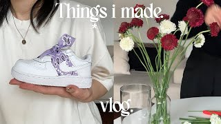 ENG) vlog. 신발 커스텀 하고 (feat.출산 …