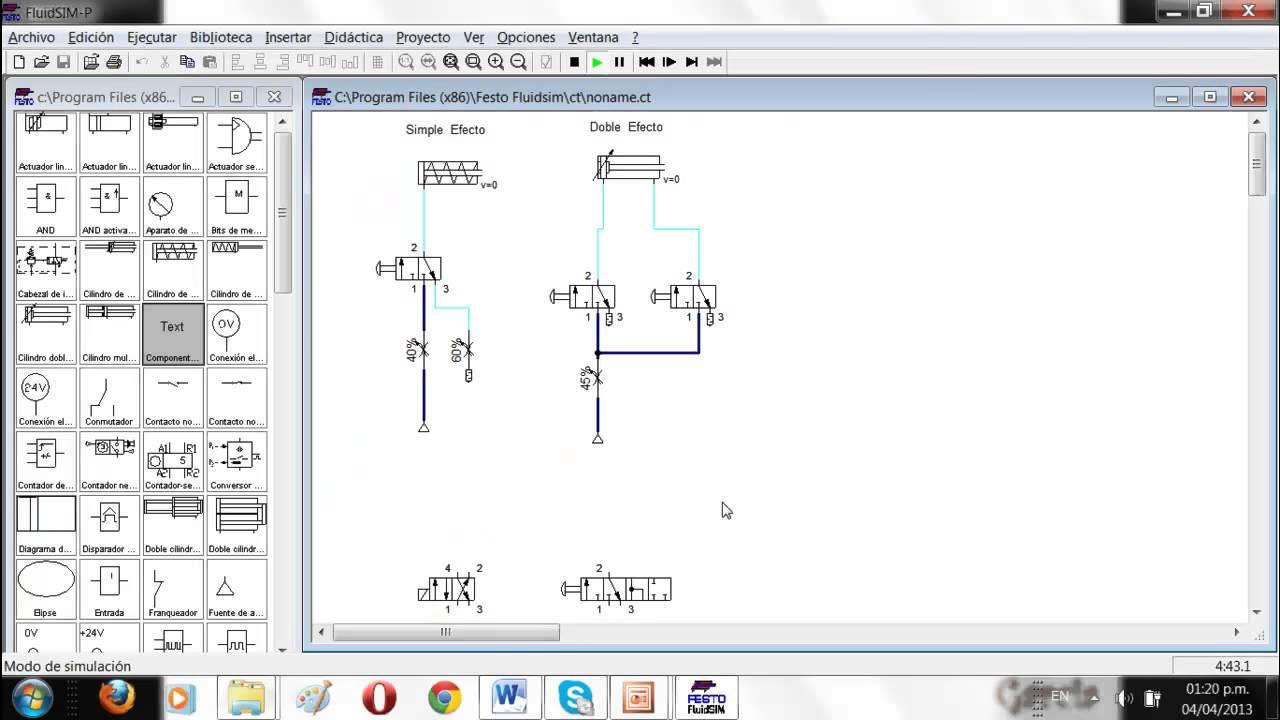 Circuito Hidraulico Simple : Cilindros de simple y doble efecto electroneumatica e
