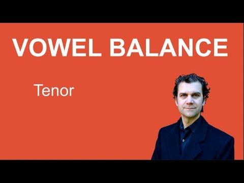Singing Warm Up - Tenor - Vowel Balance