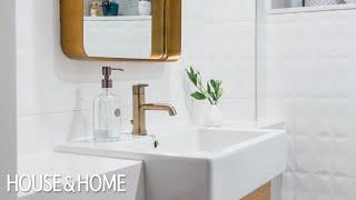 Room Tour: Tiny Basement Bathroom Makeover