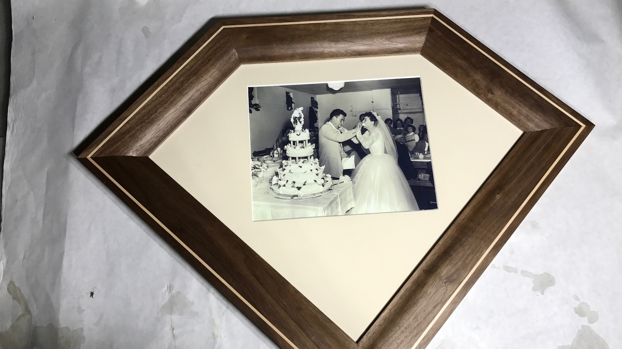 dyi picture frame for a gift diamond shape youtube