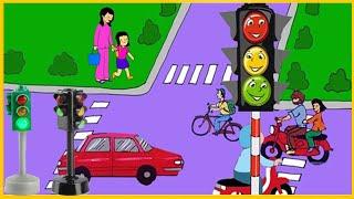 Đèn giao thông - Học tiếng Anh qua các phương tiện giao thông giúp thông minh sớm