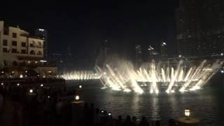 dubai mall, water fountain show