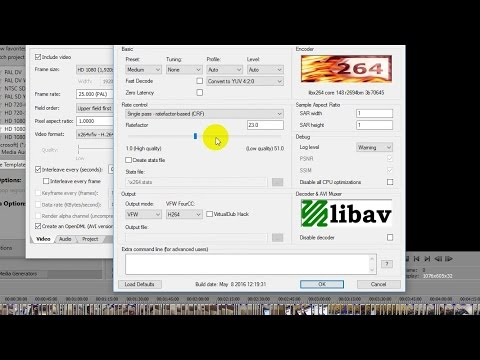 How to Render videos using the x.264 codec in Vegas Pro