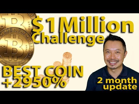 $1m Challenge, Best Coin +2950%, 2 Month Update 🚀🌙 NEO, Ripple, Power Ledger - Ep10